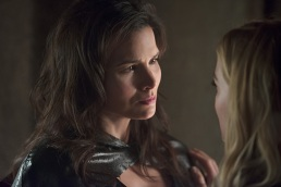 """DC's Legends of Tomorrow --""""River of Time""""-- Image LGN114a_0316b.jpg -- Pictured: Katrina Law as Nyssa al Ghul -- Photo: Diyah Pera/The CW -- © 2016 The CW Network, LLC. All Rights Reserved."""